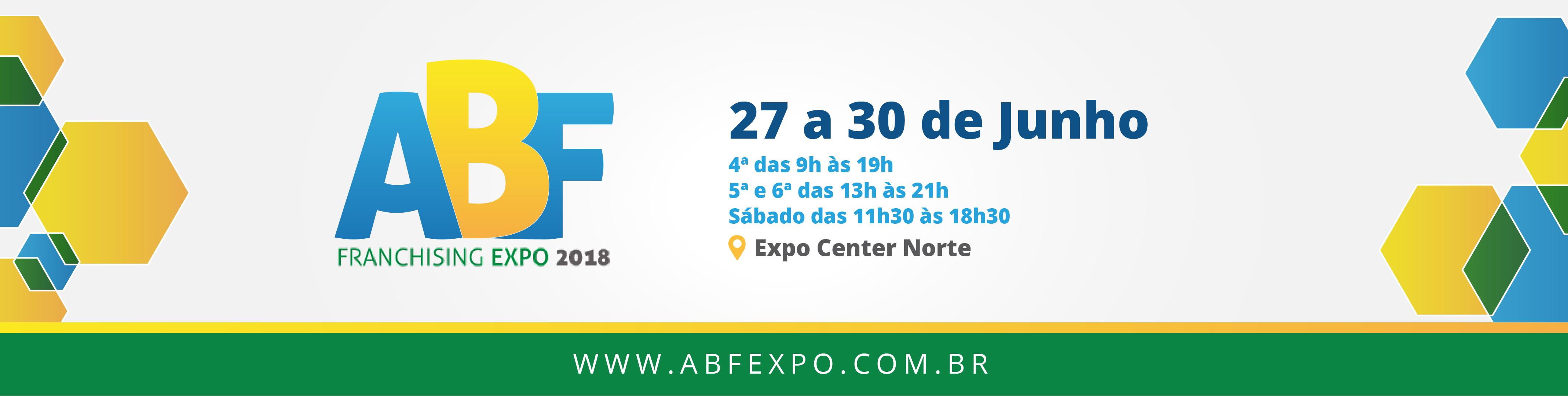 Franchising Expo 2018 - 27 a 30 de Junho